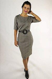 Vestido tubinho xadez