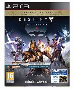 Destiny The taken king Edição lendária ps3 psn midia digital