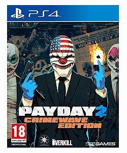 Payday 2 edição crimewave ps4 psn midia digital