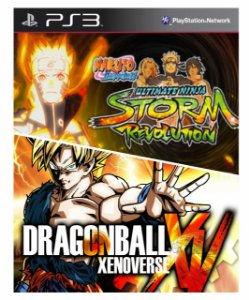 Combo Dragonball z xenoverse + Naruto  Revolution Ps3 Mídia Digital