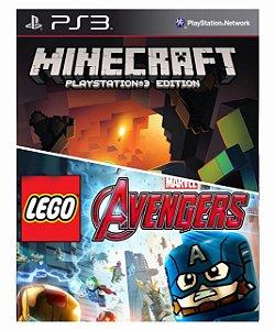 Combo Minecraft + Lego Marvels Avengers Ps3 MídiaDigital