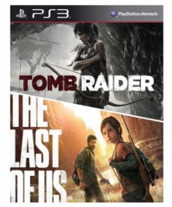 Combo Tomb Raider + The last of us ps3 Mídia Digital