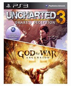 Combo Uncharted 3 + God of war ascension ps3 Mídia Digital
