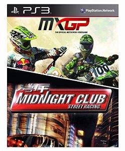 Combo MXGP  Motocross + Midnight club (ps2 classics) Ps3 Mídia Digital