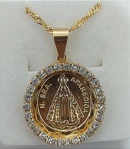 Colar Nossa Senhora Aparecida Dourado