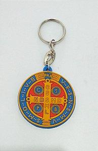 Chaveiro de Borracha Medalha de São Bento