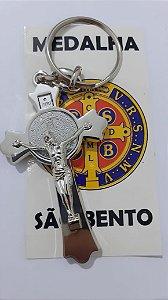 CHAVEIRO CRUZ SÃO BENTO 65MM NIGUEL