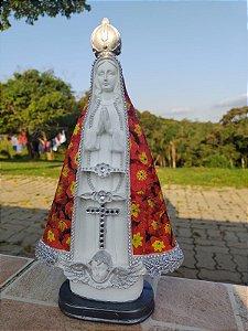 Imagem de Nossa Senhora Aparecida artesanal em decopage