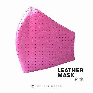 Máscara de Couro - Pink