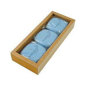 Sabonete Vegetal Homem Bleu 100g caixa com 3 unidades