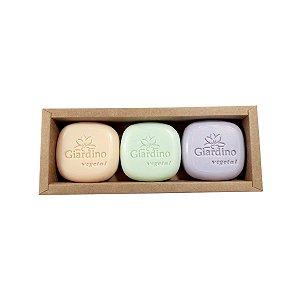 Sabonete Vegetal Giardino Sortidos 100g (caixa com 3 unidades)