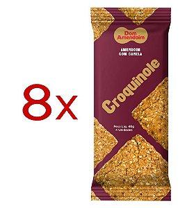 Croquinole de Amendoim com Canela - Caixa 320g (8 pacotes de 40g)