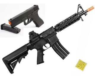 AIRSOFT KIT VG - RIFLE M4A1 E PIST.V307 MOLA 6MM