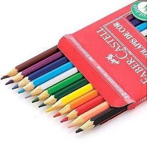 Lápis de Cor 12 cores sextavado - Faber Castell