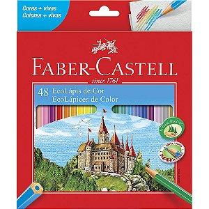 Lápis de Cor 48 cores sextavado - Faber Castell