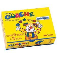 Tinta Guache 15ML 12 Cores Maripel