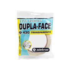 Fita Dupla Face Transparente 12mm x 30m 1 UN Adelbras
