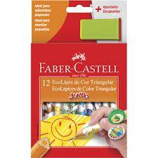 Lápis de Cor 12 cores Jumbo triangular  Faber Castell