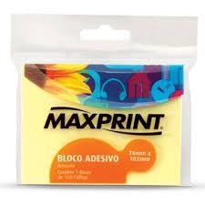 Bloco Adesivo 76X102 Amarelo Maxprint