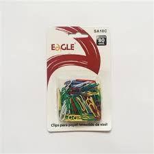 Clips p/ Papéis 28mm Coloridos 80 Unid - Eagle