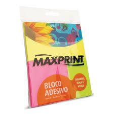 Bloco Adesivo Neon 3 tamanhos Maxprint
