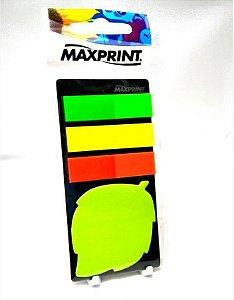 Bloco Adesivo Folha Com Marcador Maxprint