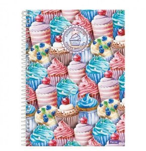 Caderno Universitário Cupcakes 10 Mat 200 Fls Foroni