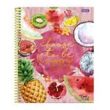 Caderno Universitário Fruit lovers 10 Mat 200 Fls Foroni