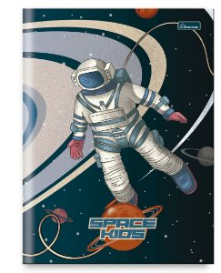Caderno Brochura Universitário Space Kids 80 fls Cadersil