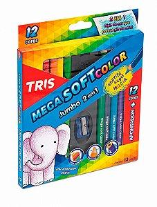 Lápis De Cor TRIS Mega Soft Color Jumbo 2 Em 1