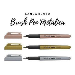 Marcador Brush Pen Metallic CIS