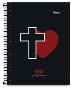 Caderno Universitário 15x1 God Of Promisses  Cadersil