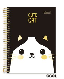 Caderneta Espiral 1/8 Capa Dura Cute Cat Cadersil