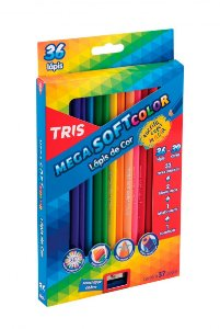 Lápis De Cor Mega Soft Color 36 Cores- Tris