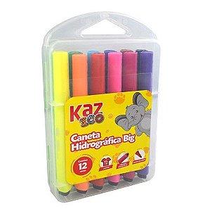 Caneta Hidrográfica Big 12 Cores Kz204-12 - KAZ
