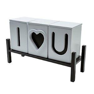 objeto decorativo i love you