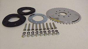 Coroa Da Bicicleta  Motorizada + Kit Fixação 44 Dentes