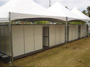 Hospital de campanha Modular Estrutura Em Alumínio dimensões variadas, Consulte