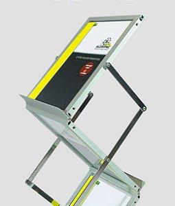 Porta Folder Sanfonado Estrutura em Alumínio