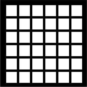 PAINEL PETRA DECORATIVO - ELEMENTO VAZADO - MDF CRU- 0,60X0,60 CM