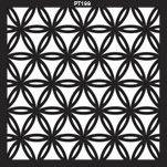 PAINEL PETRA DECORATIVO - ELEMENTO VAZADO - MDF CRU - 0,60X0,60 CM
