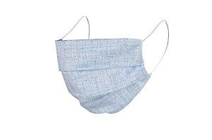 Máscara de Proteção Respiratória Tricoline - Azul Bebê