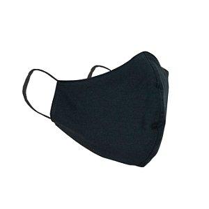 Máscara de Proteção Respiratória Tricoline - Preto Modelo Bico de Pato