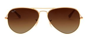 RAY BAN RB3025 AVIADOR MARROM DEGRADE