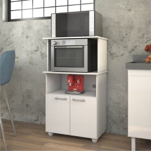 Balcão De Cozinha Com Espaço Para Forno Elétrico Cuca Branco