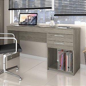 Mesa de Escritório Home Office 02 Gavetas Notável Carvalho
