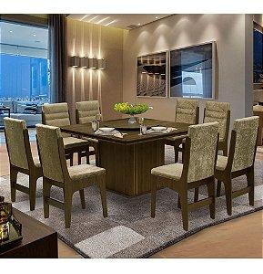 Mesa De Jantar 8 Cadeiras Amsterdam Cas cas Ams