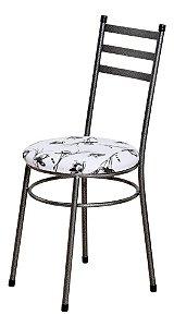 Cadeira Redonda Para Cozinha Com Assento Estofado 0.0.135