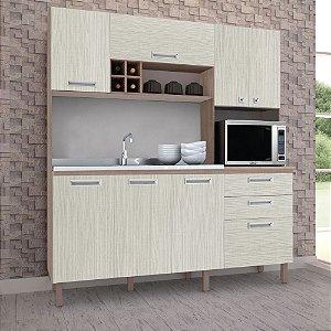 Armário de Cozinha Com 08 Portas Esmeralda Nogal arena