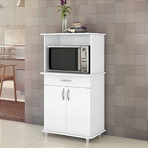 Armário Para Cozinha Balcão Microondas Classic Branco